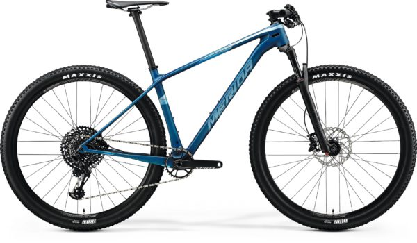 Велосипед 29″ Merida BIG.NINE 6000 Matt Ocean Blue (Glossy Silver-Blue) 2020