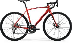 Велосипед 28″ Merida MISSION CX 300 SE Silk X'mas Red (Black) 2020
