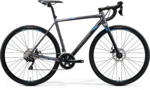 Велосипед 28″ Merida MISSION CX 400 Matt Silver (Blue) 2020