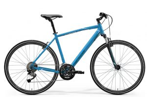 Велосипед 28″ Merida Crossway 10-V Blue (Steel Blue/White) 2021