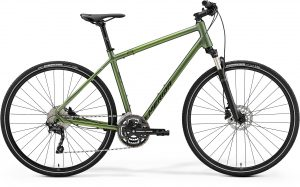 Велосипед 28″ Merida Crossway 300 Matt Fog Green (Dark Green) 2021