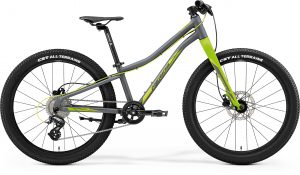 Велосипед 24″ Merida Matts J.24+ Matt Cool Grey (Green/Yellow) 2021