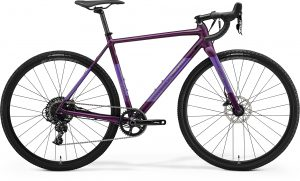 Велосипед 28″ Merida Mission CX 600 Matt Dark Purple (Silver-Green) 2021